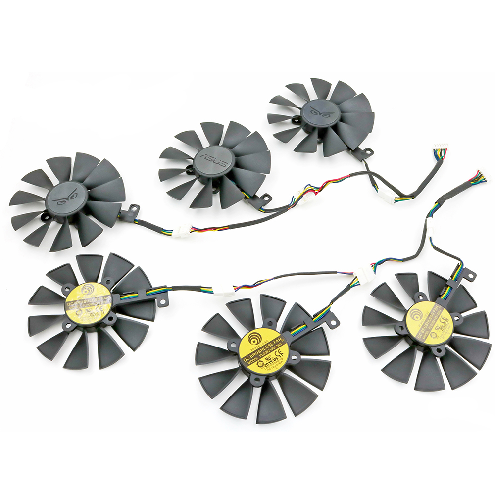 ФОТО 3Pcs/Lot New 88MM PLD09210S12HH DC 12V 0.4A Cooling Fan Replacement For ASUS STRIX-GTX980Ti R9 390X/390 GTX1070/1080 RX480 Fans