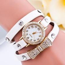 Nouvelles Femmes De Mode Montre De Luxe Or Bow tie Bracelet Bijoux Montres À Quartz En Cuir Strass Casual Robe Montre-Bracelet Montres