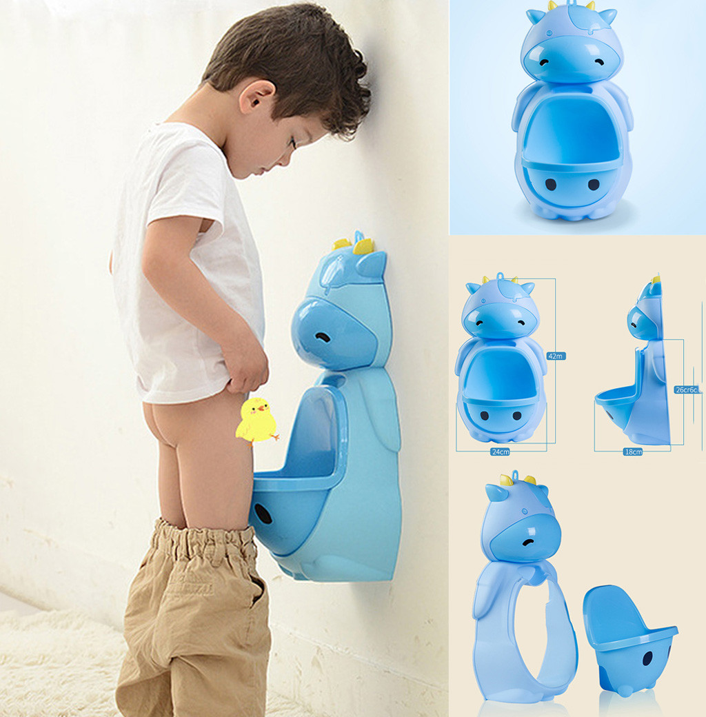 Kids Cow Potty Toilet Urinal Pee Trainer Wall-Mounted Toilet Pee Trainer Penico Pinico Children Baby Boy Bathroom Frog Urinal(China)