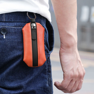 Image 4 - NewBring אמיתי עור מפתח ארנק מחזיק Scratchproof נעל רצועת סוכנת בית DIY חכם מפתח ארגונית