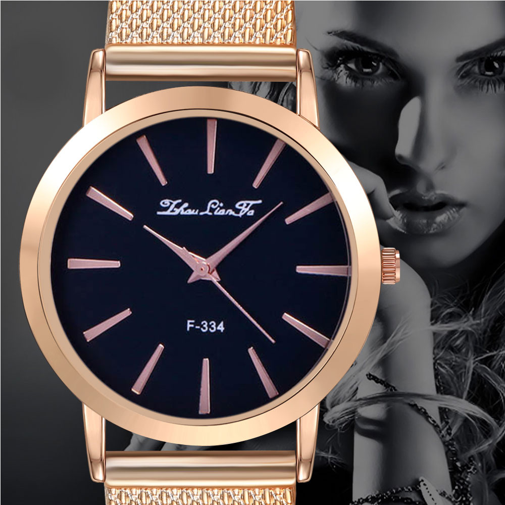 Ultra Thin Ladies Watch Brand Luxury Women Watches Rose Gold Stainless Steel Quartz Calendar Wrist Watch Montre Femme Feminin Fi