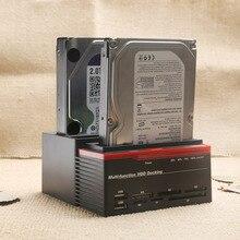 USB 3,0 до 2,5 «3,5» SATA IDE жесткий диск привод 3 слота HDD клон док-станция USB концентратор 2 ТБ 893U3ISC многоцелевой HDD док-станция