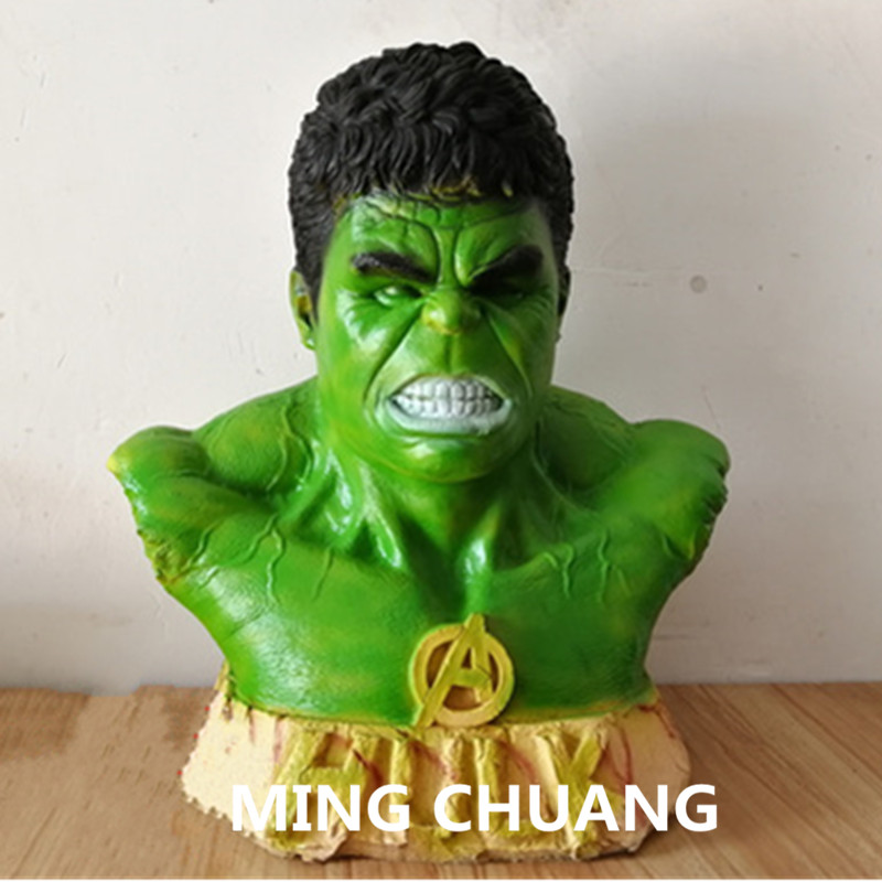 Statue Avengers Infinity War Bust Superhero COS Hulk Half-Length Photo Or Portrait Action Figure Collectible Model Toy BOX Z51 avengers statue superhero captain marvel bust 1 2 ms marvel full length portrait resin action figure collectible model toy w252