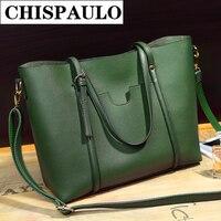 Nouveau 2017 haute qualité PU sac à main dames sac femelle rétro serviette vert croix épaule sac T4
