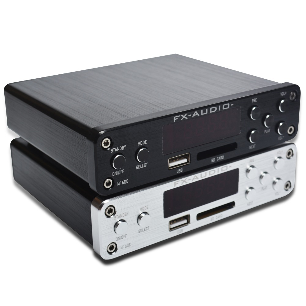 FX-Audio M-160E Bluetooth@4.0 Digital Audio Amplifier Input USB/SD/AUX/PC-USB Loseless Player For APE/WMA/WAV/FLAC/MP3 160W*2 hifi amplifier digital bluetooth 4 0 audio amp 160w 160w support u disk sd ape fx m 160e white black