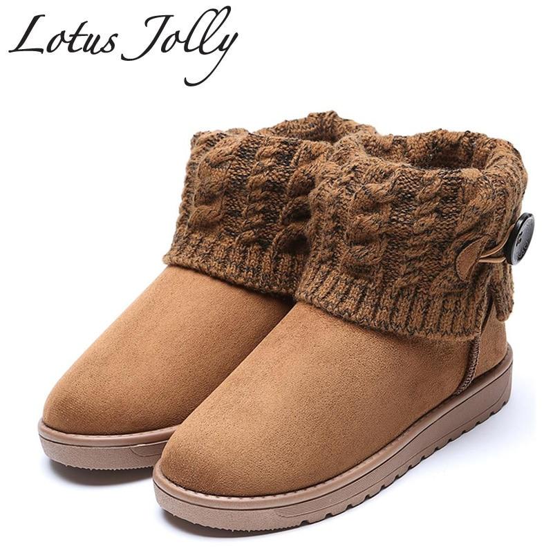Lotus веселый плюс размер 35-41 2017, Женская обувь Пряжка Снегоступы шерстяные ботильоны зимняя теплая обувь на платформе женщина Mujer Bottes