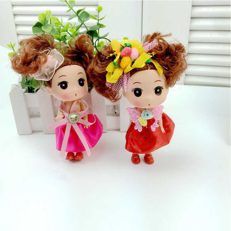 Brinquedos Bonecas Casamento Boneca Confuso cachos Corpo PVC Boneca Brinquedos Para Meninas Crianças Criativas Presentes Da Menina Bonito Do Bebê