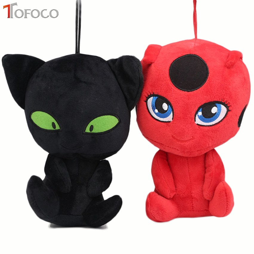 TOFOCO 20CM Miraculous Ladybug and Cat Noir Peluche Toys Lady Bug Plagg Tikki Soft Stuffed Dolls toy for kids Children hot sale 12cm foreign chavo genuine peluche plush toys character mini humanoid dolls