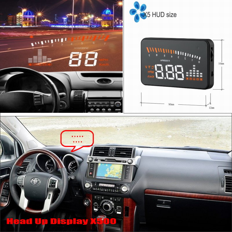 For Toyota Land Cruiser Prado LC 150 LC150 2010~2014 - Car HUD Head Up Display - Driving Screen Projector Refkecting Windshield apart cm4t white