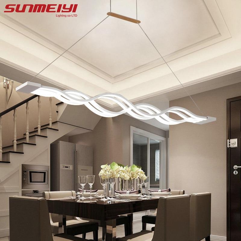 Novelty led Pendant Light for Kitchen Dining Room White Pendant Lamp for Coffee House Bedroom Suspension