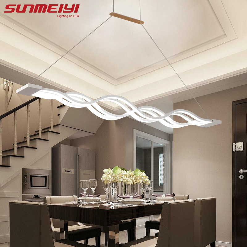 Nouveauté led lumière pendante pour cuisine salle à manger lampe suspension blanche pour café chambre suspension à suspension suspension lampe
