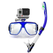 Hot Gopro snorkel set professional dive mask with mount XIAOYI CAMERA Mount diving mask for adult dry snorkel set top dive gears