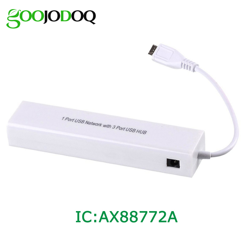 Micro USB 2.0 HUB To RJ45 Network Card LAN Adapter Ethernet 100Mbps 3 Port USB OTG HUB For Samsung Android Tablet Phone H15