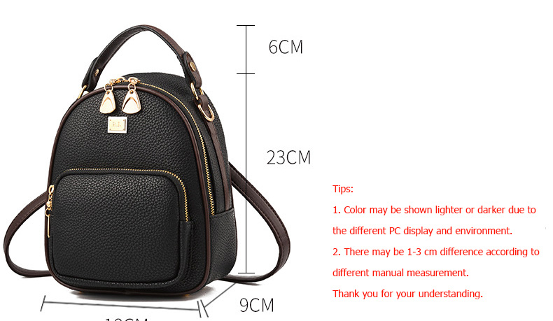 HTB1b6wJtASWBuNjSszdq6zeSpXao Brand New Leather Small Women Backpacks Zipper Shoulder Bag Female Phone Bags Lady Portable Backpack for Girls Casual Style