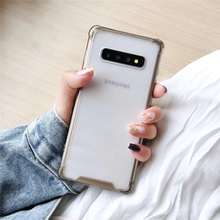Fashion Anti-knock Shockproof Case for Samsung Galaxy S10 S10 Plus Transparent hard phone case Protective shell