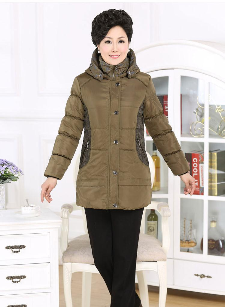 ФОТО New Hot Sale Middle-age winter jacket Women Warm Wadded jackets Mother Clothing Cotton-padded Winter Coat Women XL-3XL