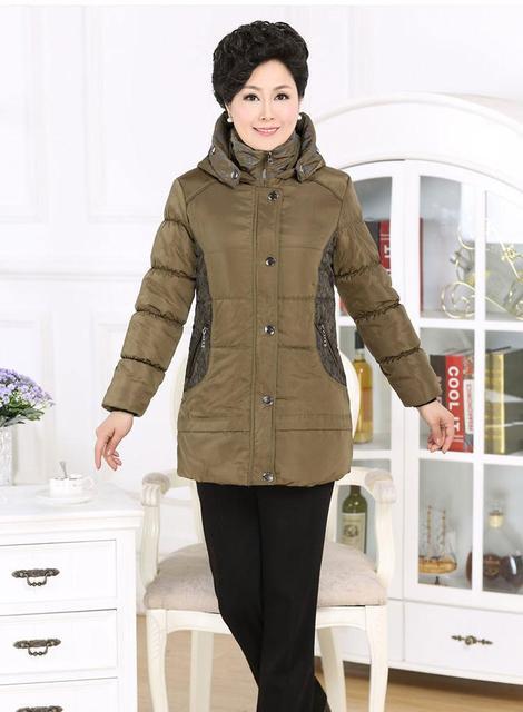 Nova Venda Quente Mulheres jaqueta de inverno de Meia-idade jaquetas Wadded Roupas Mãe Algodão-acolchoado Casaco de Inverno Quente Mulheres XL-3XL