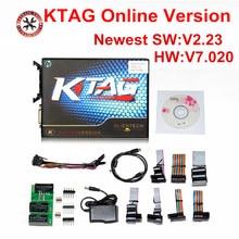 On line Versione KTAG V7.020 No Gettoni Kess 5.017 Kess V2 V5.017 OBD2 Gestione Sintonia Kit K TAG 7.020 Master V2.23 ECU programmatore