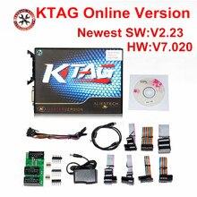 Online sürüm KTAG V7.020 yok jeton Kess 5.017 Kess V2 V5.017 OBD2 müdürü Tuning takımı K TAG 7.020 ana V2.23 ECU programcı