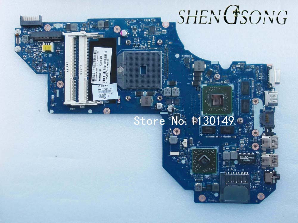 725064-001 FREE SHIPPING 725064-501 For envy M6 Laptop Motherboard Mainboard for HP QCL51 LA-8712P tested well