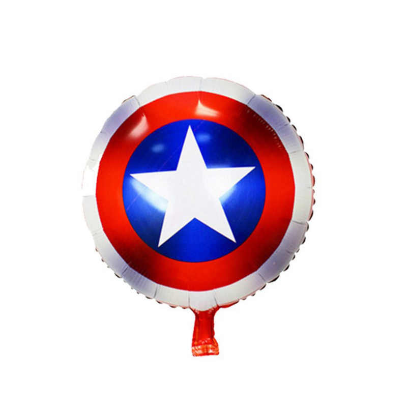 The Avengers Alliance Foil Balloons Action Figures Birthday Wedding Party Decorations Captain America Theme Balloon Kids Toys
