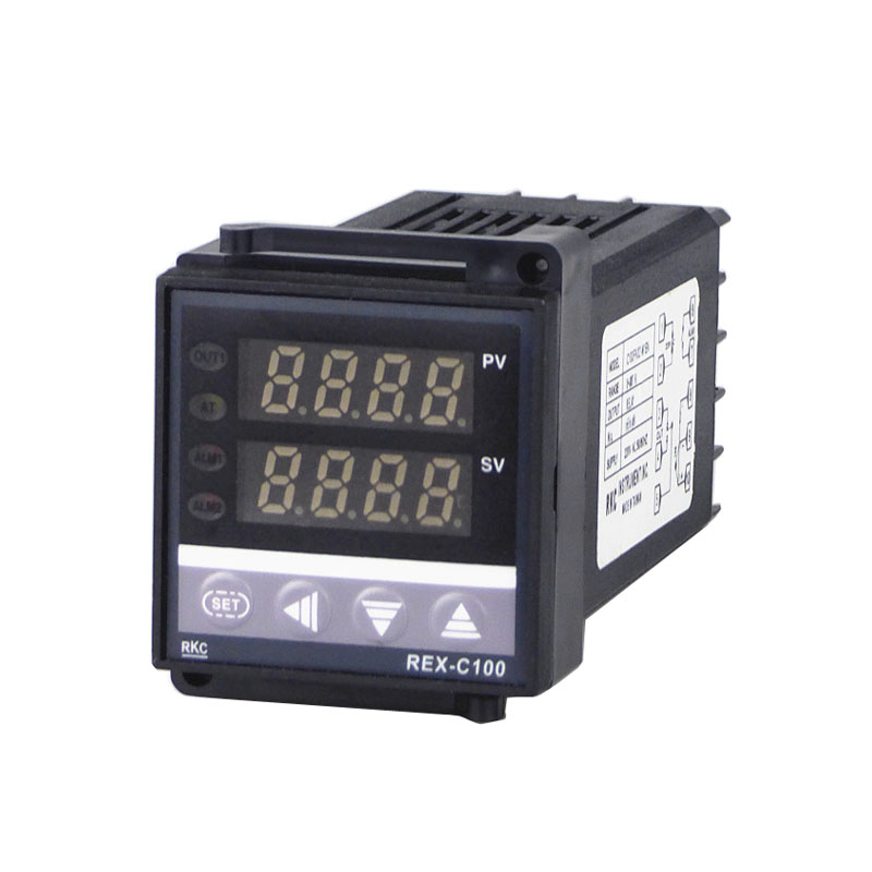 RKC REX-C100 Digital PID Temperature Controller relay Panel output 48*48 k type CH6 Controller Panel set of pid digital temperature thermostat regulator controller rex c100 with ssr output thermocouple k solid state relay ssr 40a