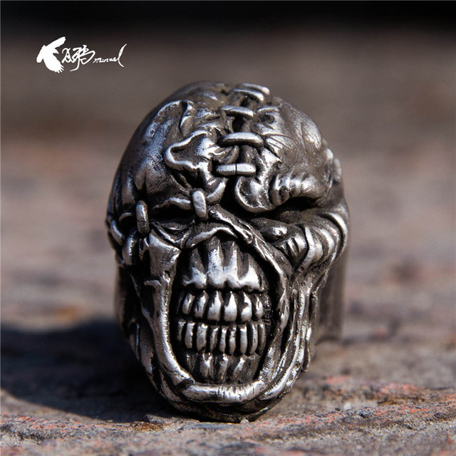 Biohazard Resident Evil Nemesis 925 Silver Ring Aging Customize Manual Handmade Mens
