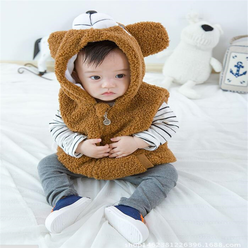 2018 Cute Cartoon Bear Design Kinder Westen Herbst Winter - Kinderkleidung - Foto 3
