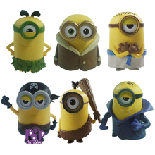 High Quality 6pcs/lot Despicable Me 2 Action Figures Pop PVC Despicable Me Minions Figures For Children