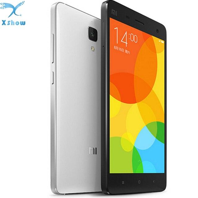 """Оригинальный Xiaomi Mi4 M4 3 г WCDMA мобильный телефон 5.0 """"FHD 1920*1080 P Экран Snapdragon801 4 ядра 3 ГБ Оперативная память 16 ГБ Встроенная память 13MP Камера"""