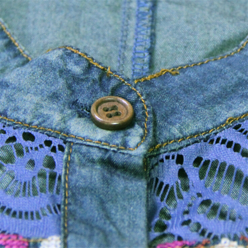 9ba5cf1d12cc Brand original design Women Dresses 2018 Summer cotton cardigan vintage  hollow embroidered vest denim dress Leisure Travel Dress-in Dresses from  Women s ...