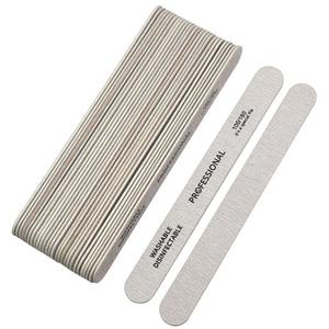 Image 5 - 10pcs เล็บไฟล์ 100/180 ไม้เล็บบัฟเฟอร์ Professional กระดาษทรายเล็บเจลไฟล์หนาสีเทาทำเล็บมือเครื่องมือ