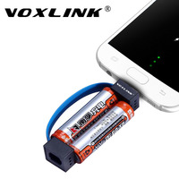 VOXLINK Mini Portable Magnetic Micro USB Charger Cable Emergency 2 AA Battery Power Charger Adapter For