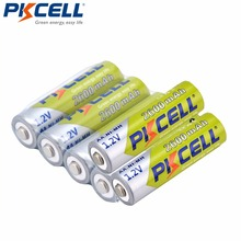 6 X PKCELL AA Batteries Ni-MH 2A 1.2V 2600mAh NIMH AA Rechargeable Battery Baterias Bateria Batteries