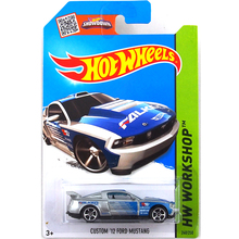 Free Shipping Hot Wheels Custom 12 Ford Mustang Collection Metal Cars Hot Wheels Special Style Children's Educational Toys 1:64