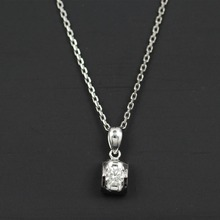LASAMERO Halo 0.192CT 18k Gold Round Cut Square Center Pave Set Natural Diamond Pendant Necklace Chain Women Fine Jewelry