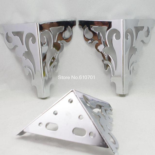 Set Metal Furniture Cabinet Legs Bed Tea Table Chair Sofa Leg Feet 4pcs 6