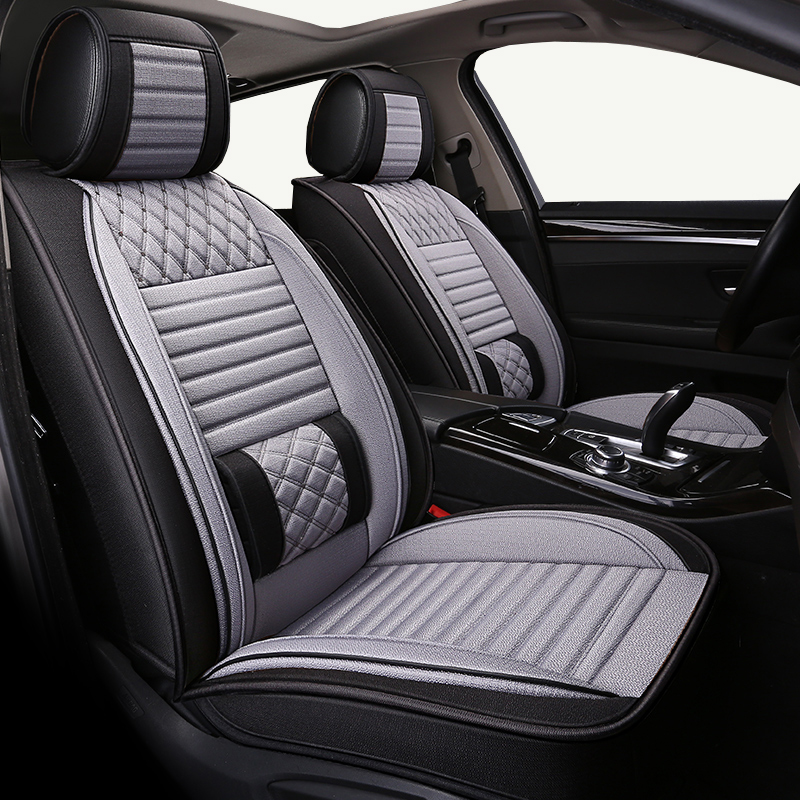 Nouveau (avant + arrière) housse de siège de voiture universelle en lin pour Hyundai i10 HB20 i20 ix20 Genesis G80/G90 TUCSON IX35 nouveau SantaFe Grandeur