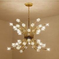 Современный кристалл подвесной светильник цветок светодиодный стеклянный шар молекулярная подвеска лампа для украшения для спальни люстр