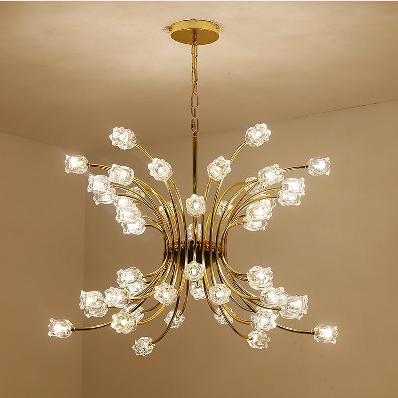 Modern Crystal Pendant Light Flower LED Glass Ball Molecular Suspension Lamp For Parlor Bedroom Restaurant Pendant Lighting G934