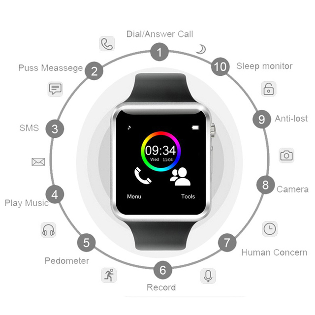 Smart Watch A1 for children men women android Bluetooth Smartwatch With camera Support call music Photography SIM TF card & DZ0 2