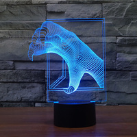 Free Shipping 1Piece Multi colored 3D Dinosaur Claw Mood Lamp Lighting Dragon Claw Led night Light