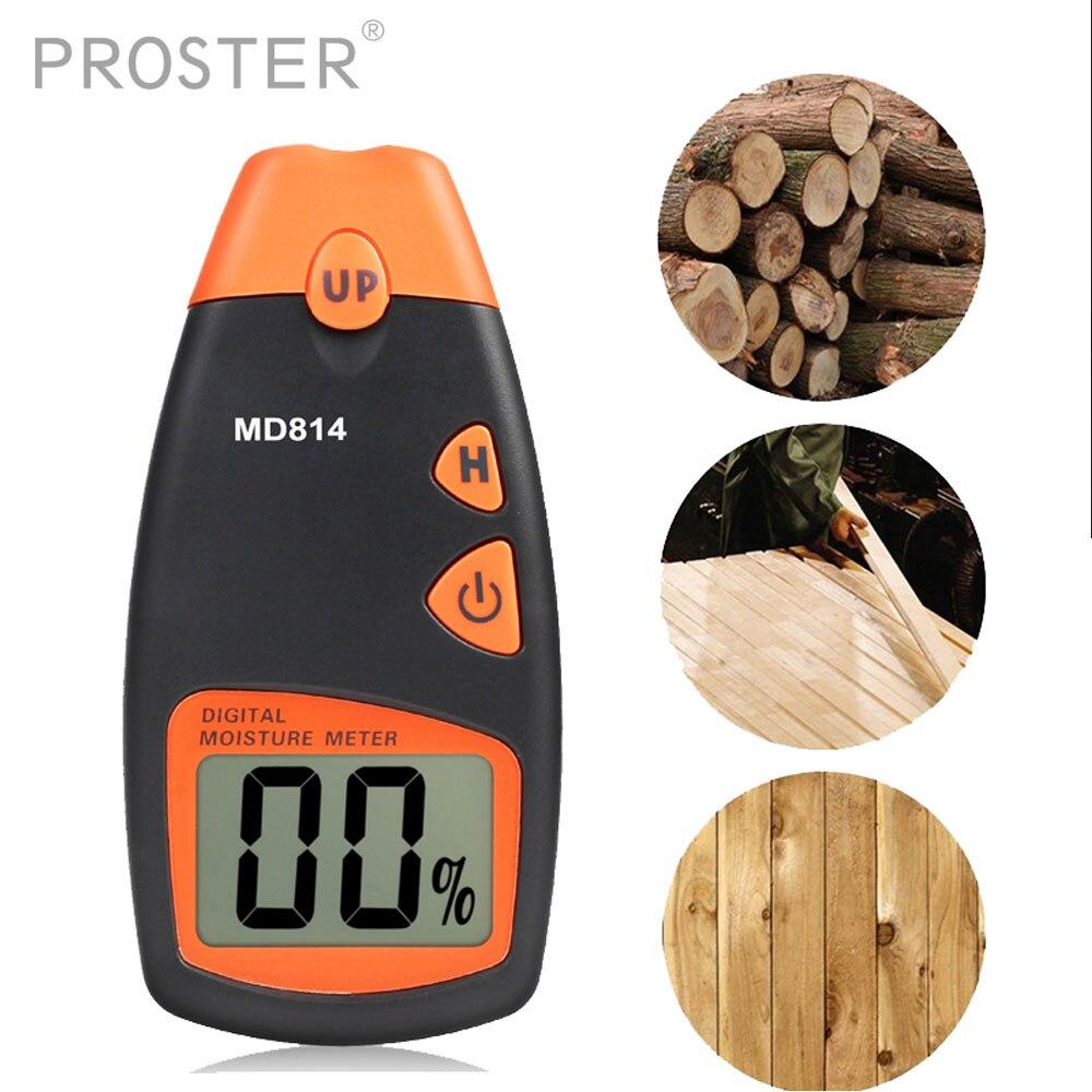0~99.9% Digital Wood Moisture Meter 4 pins Firewood Humidity Conductivity Detector 0.5% Accuracy Timber Damp Tester Sensor brand handheld digital wood moisture meter data hold measure in 4 tree species humidity tester damp detector hygrometer