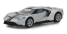 Green Light 1:64 2017 Ford GT in Ingot Silver with Black Stripes alloy toy car toys for children diecast model car Birthday gift(China)