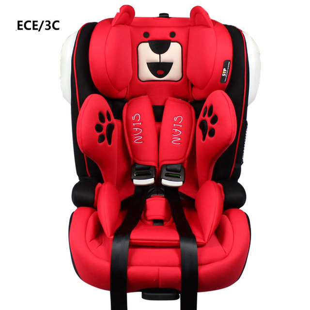 Isofix Interface Portable Baby Car Seat Convertible Child Safety Booster Five Point Harness Belt Ece