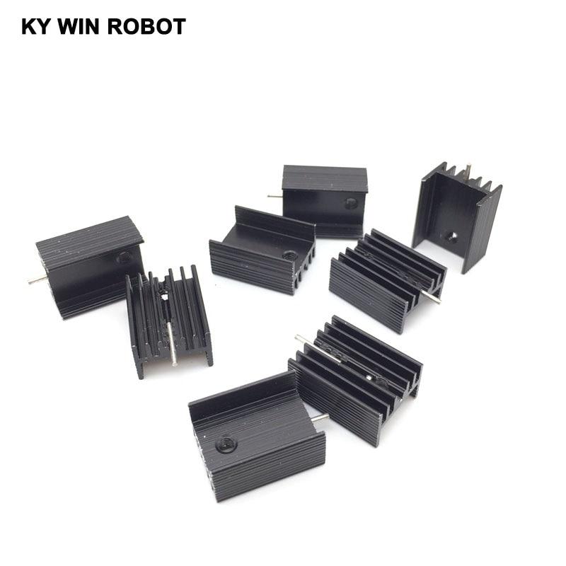50pcs Aluminium TO-220 Heatsink TO 220 Heat Sink Transistor Radiator TO220 Cooler Cooling Black 20*15*10MM