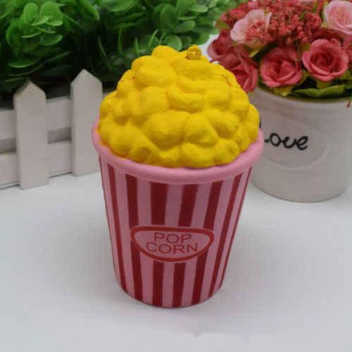 Jumbo Spremere Stress Stretch Squishy Popcorn Crema Profumata Lento Aumento Divertimento Peluche Kids Toy