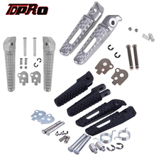 TDPRO Black Chrome Passenger Foot Rests Footpegs Motorcycle Front Rear Footrest Pegs For Honda CBR600RR CBR1000RR Bracket