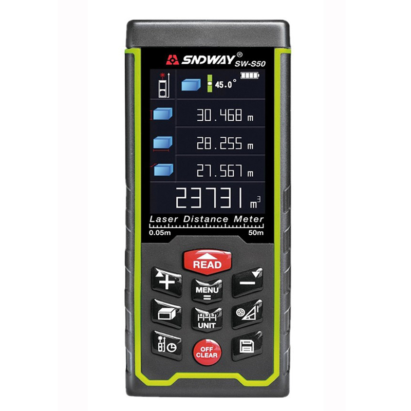 SW-S100 Direct Factory 5100M Laser distance meter USB Rechargeable Color Screen