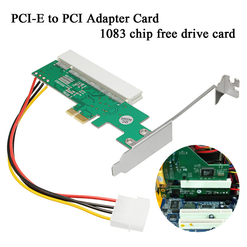 Newest PCI Express PCI-E to PCI Adapter Card Riser Card Asmedia 1083 Chipset Green AC385V Transition Card Avoid Driving Card pci